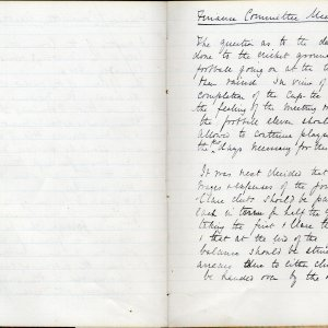 Minutes of the Amalgamation Club's Finance Committee, 1896 [KCAS/1/1/1, f.15]