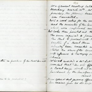 Minutes of the Amalgamation Club's Annual General Meeting,  12 March 1894.  [KCAS/1/1/1, 1894 AGM page 1]