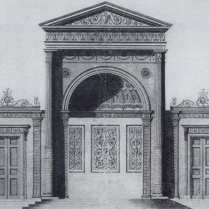 Elevation of a design for an altar piece. James Adam, 1769. (KCC/277)