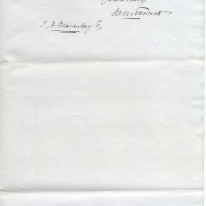 Second page of a letter from Mr. W.M. Fawcett, May 1895. [KCD/55]