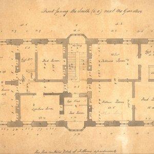 A stair floor plan