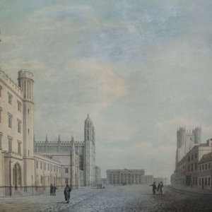 Perspective looking north on King's Parade. James Wyatt, 1795 (KCD/628)