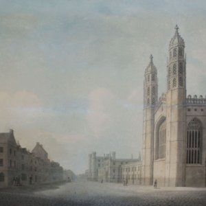 Perspective looking south on King's Parade. James Wyatt, 1795 (KCD/629)
