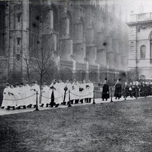 Choir procession for Victoria memorial