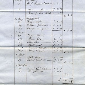 Schedule from a draft lease of a farm house and lands from King's College to Messrs. C.J. and H. Newman, 1868. (KER/833)