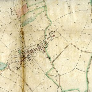 Copy traced from a tithe map including Kersey, dated 1860. (KER/889)