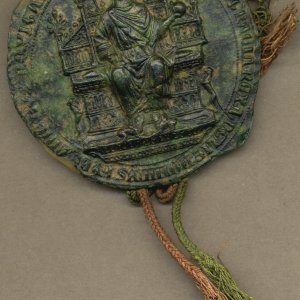 Seal on the Letters Patent of Edward I, 1305 (GBR/57)