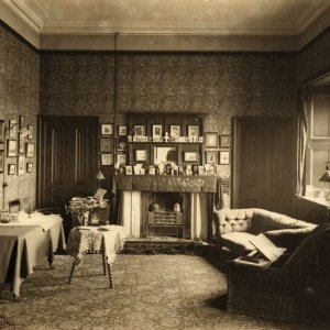 The room of Lawrence Haward on D staircase, at the top of the Wilkins building, overlooking Webb's Court (c.1898-1900; LIB/40)