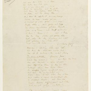 First page of the fair copy of fragments of 'The Sentimental Exile' for the Basileon. Fitzwilliam Museum, Cambridge. MS/1/1917.