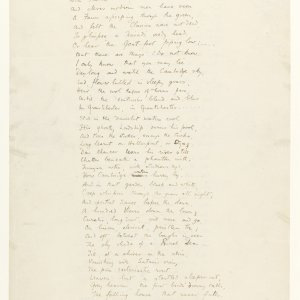 Second page of the fair copy of fragments of 'The Sentimental Exile' for the Basileon. Fitzwilliam Museum, Cambridge. MS/1/1917.