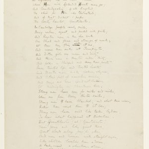 Third page of the fair copy of fragments of 'The Sentimental Exile' for the Basileon. Fitzwilliam Museum, Cambridge. MS/1/1917.