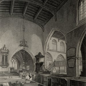 Holy Trinity church, interior. (Cooper's Memorials Trinity interior in Simeon's time vol 3 p.375)