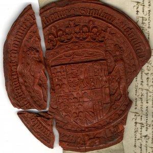 Seal on an Order of Elizabeth I, 1501 (COL/544)