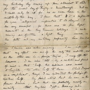 Letter from Rupert Brooke to St John Lucas, July 1905. Archive Centre, King's College, Cambridge. RCB/L/2, letter 10 (second page)
