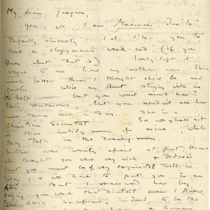 First page of a letter from Rupert Brooke to Jacques Raverat on 1 March 1910. [RCB/L/3]
