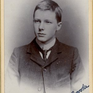 Studio photographs of Rupert Brooke, in 1893-5, 1904 and 1905. Photographer: E.H. Speight, Rugby. RCB/Ph/17.