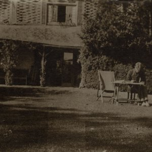 •Rupert Brooke at the Old Vicarage Summer 1911, by Miss Linder. Archive Centre, King's College, Cambridge. RCB/Ph/128.