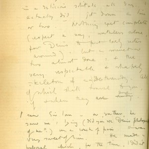 Second page of a letter from Rupert Brooke to Edward Marsh, 9 March 1915. Archive Centre, King's College, Cambridge. RCB/S/5/2, 215.