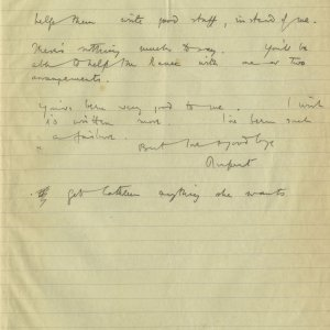 Second page of a letter from Rupert Brooke to Edward Marsh, 9 March 1915 (RCB/S/5/2, 216)