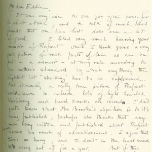 First page of a letter from Geoffrey Keynes to Eddie Marsh, 16 March 1915. Archive Centre, King's College, Cambridge. RCB/S/9/2.