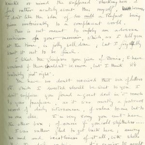 Second page of a letter from Geoffrey Keynes to Eddie Marsh, 16 March 1915. Archive Centre, King's College, Cambridge. RCB/S/9/2.