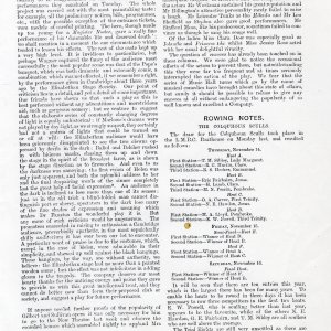 Annotated photocopy of a review of Doctor Faustus, published in The Cambridge Review, 14 November 1907. [RCB/Xa/5]