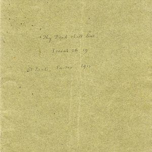 Cover of booklet sent to Mary Ruth Brooke, containing Dean Inge's sermon. Archive Centre, King's College, Cambridge. RCB/Xb/2.