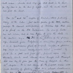 First page of notebook containing Dean Inge's sermon. Archive Centre, King's College, Cambridge. RCB/Xb/2.