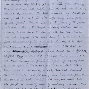 Second page of notebook containing Dean Inge's sermon. Archive Centre, King's College, Cambridge. RCB/Xb/2.