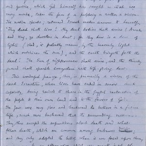 Third page of notebook containing Dean Inge's sermon. Archive Centre, King's College, Cambridge. RCB/Xb/2.