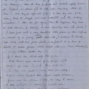 Fifth page of notebook containing Dean Inge's sermon. Archive Centre, King's College, Cambridge. RCB/Xb/2.