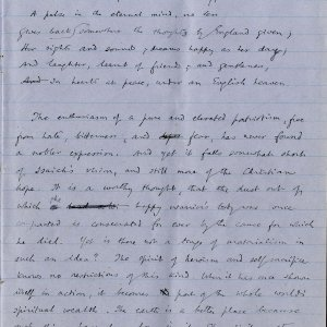 Sixth page of notebook containing Dean Inge's sermon. Archive Centre, King's College, Cambridge. RCB/Xb/2.
