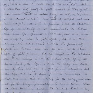 Seventh page of notebook containing Dean Inge's sermon. Archive Centre, King's College, Cambridge. RCB/Xb/2.