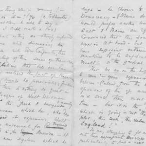 Part of a letter from C.R. Ashbee to Roger Fry, dated 26 April 1886. [REF/3/4]