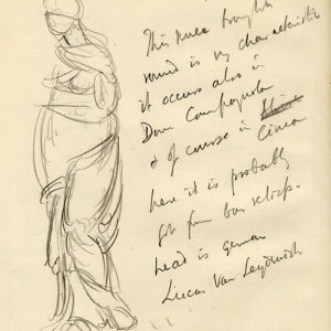 Page from a sketchbook chiefly on Venetian history and painting (REF/4/1/22)