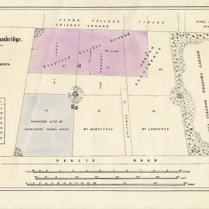 St Giles Allotments held by King's College in 1876. (KCD/739)