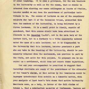 Part of a letter from JM Keynes to the editor of the Cambridge Review written by JM Keynes, 1921. [JMK/UA/5/2/3]