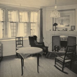 The room of William Haywood Haslam, intelligence worker and businessman, in Webb's Court (1909; WHH/4/1)