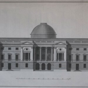 Elevation of the north front of the Hall. Robert Adam, 1787 (WKB/43/7)
