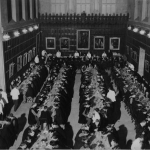 Photograph showing the view of the Hall from the gallery. [KCPH/6/1]
