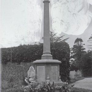 Grantchester War Memorial Cambridgeshire Collection at Cambridge Central Library. Y.Gra.K2.44300.