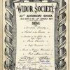 Menu for the Widor Society's 25th Anniversary dinner, 24 November 1962 (KCAS/21/4)