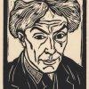 Self-portrait by Roger Fry, taken from 'Twelve Original Woodcuts (1921)
